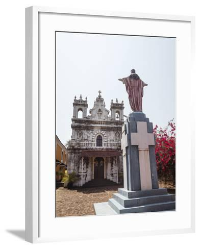 Old Portuguese Church in Grounds of Fort Tiracol, Goa, India, Asia-Yadid Levy-Framed Art Print