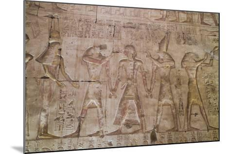 Bas-Relief of Pharaoh Seti I in Center with Egyptian Gods-Richard Maschmeyer-Mounted Photographic Print