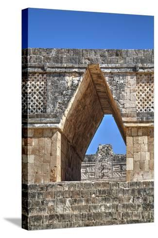 Corbelled Arch, Nuns Quadrangle, Uxmal, Mayan Archaeological Site, Yucatan, Mexico, North America-Richard Maschmeyer-Stretched Canvas Print