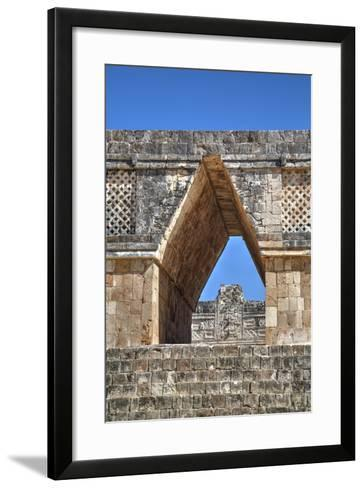 Corbelled Arch, Nuns Quadrangle, Uxmal, Mayan Archaeological Site, Yucatan, Mexico, North America-Richard Maschmeyer-Framed Art Print