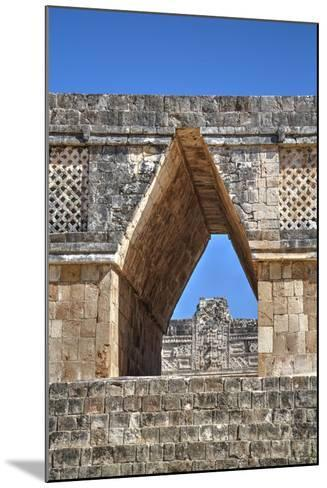 Corbelled Arch, Nuns Quadrangle, Uxmal, Mayan Archaeological Site, Yucatan, Mexico, North America-Richard Maschmeyer-Mounted Photographic Print