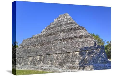 Temple I, Chaccoben, Mayan Archaeological Site-Richard Maschmeyer-Stretched Canvas Print