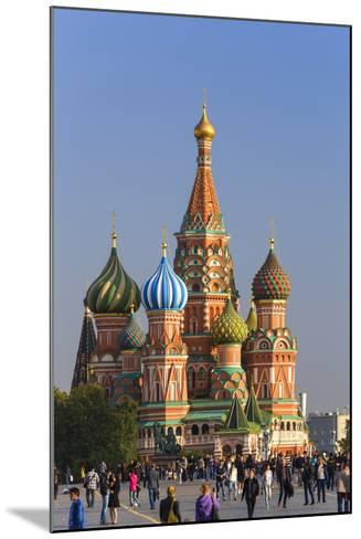St. Basils Cathedral in Red Square, Moscow, Russia-Gavin Hellier-Mounted Photographic Print