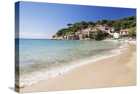 Beach at Scaglieri Bay, Island of Elba, Livorno Province, Tuscany, Italy-Markus Lange-Stretched Canvas Print