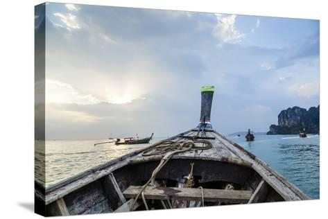Longtail Boat, Railay Beach, Krabi, Thailand, Southeast Asia, Asia-Yadid Levy-Stretched Canvas Print