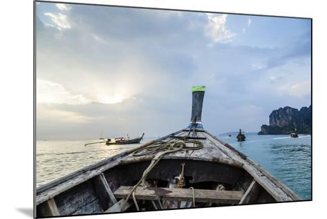 Longtail Boat, Railay Beach, Krabi, Thailand, Southeast Asia, Asia-Yadid Levy-Mounted Photographic Print