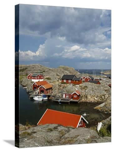 Timber Houses, Vaderoarna (The Weather Islands) Archipelago, Bohuslan Region, West Coast, Sweden-Yadid Levy-Stretched Canvas Print