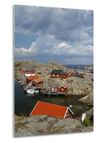 Timber Houses, Vaderoarna (The Weather Islands) Archipelago, Bohuslan Region, West Coast, Sweden-Yadid Levy-Metal Print