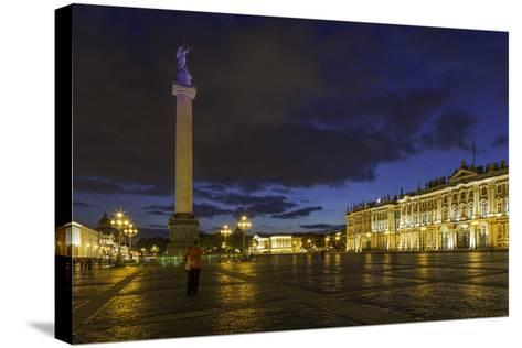 Palace Square, the Hermitage, Winter Palace, St. Petersburg, Russia-Gavin Hellier-Stretched Canvas Print