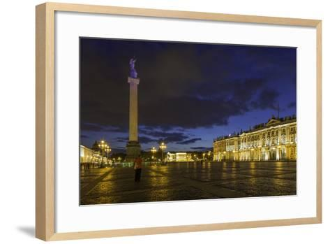 Palace Square, the Hermitage, Winter Palace, St. Petersburg, Russia-Gavin Hellier-Framed Art Print