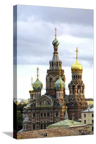 Domes of Church of the Saviour on Spilled Blood, St. Petersburg, Russia-Gavin Hellier-Stretched Canvas Print