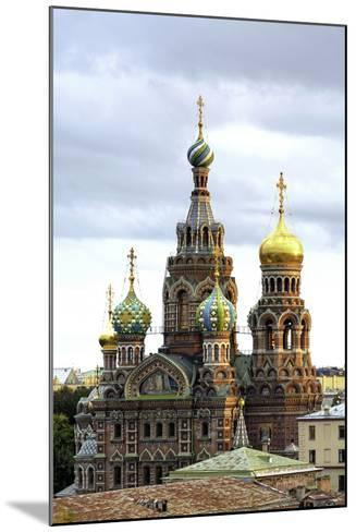 Domes of Church of the Saviour on Spilled Blood, St. Petersburg, Russia-Gavin Hellier-Mounted Photographic Print