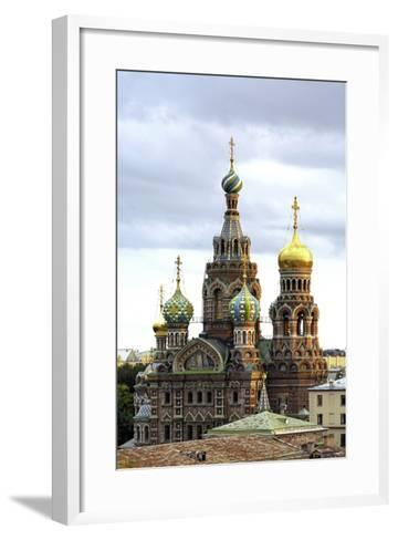 Domes of Church of the Saviour on Spilled Blood, St. Petersburg, Russia-Gavin Hellier-Framed Art Print