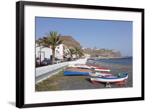 Fishing Boats at the Beach, Playa De Santiago, La Gomera, Canary Islands, Spain, Atlantic, Europe-Markus Lange-Framed Art Print