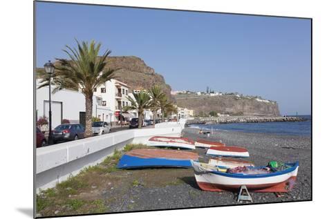 Fishing Boats at the Beach, Playa De Santiago, La Gomera, Canary Islands, Spain, Atlantic, Europe-Markus Lange-Mounted Photographic Print