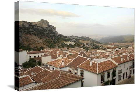 View over Grazalema Village at Parque Natural Sierra De Grazalema, Andalucia, Spain, Europe-Yadid Levy-Stretched Canvas Print