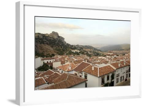 View over Grazalema Village at Parque Natural Sierra De Grazalema, Andalucia, Spain, Europe-Yadid Levy-Framed Art Print