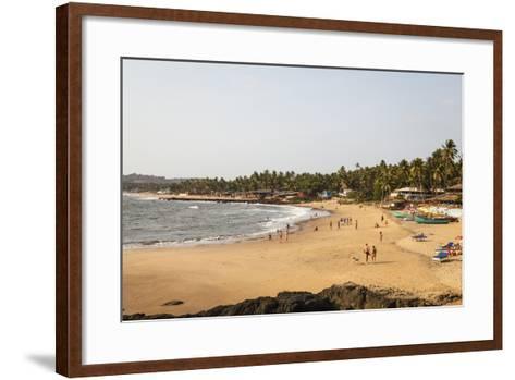 View over South Anjuna Beach, Goa, India, Asia-Yadid Levy-Framed Art Print