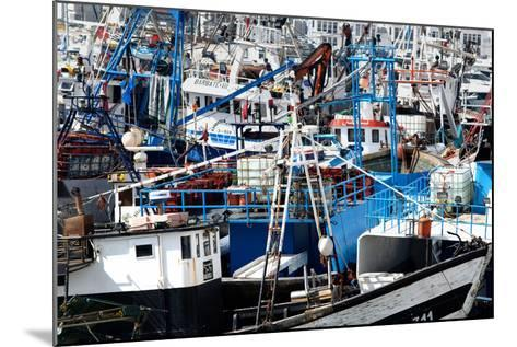 Densely Crowded Fishing Boats Moored in Tangier Fishing Harbour, Tangier, Morocco-Mick Baines & Maren Reichelt-Mounted Photographic Print