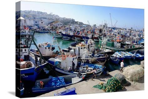 Fishing Harbour, Tangier, Morocco, North Africa, Africa-Mick Baines & Maren Reichelt-Stretched Canvas Print