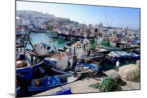 Fishing Harbour, Tangier, Morocco, North Africa, Africa-Mick Baines & Maren Reichelt-Mounted Photographic Print
