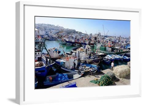 Fishing Harbour, Tangier, Morocco, North Africa, Africa-Mick Baines & Maren Reichelt-Framed Art Print