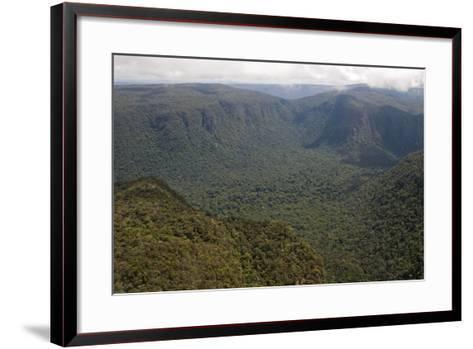 Aerial View of Mountainous Rainforest in Guyana, South America-Mick Baines & Maren Reichelt-Framed Art Print