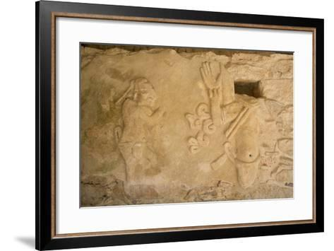 Figures of Stucco Relief, Skeletal Heads Found in the Niches, Castillo De Kukulcan-Richard Maschmeyer-Framed Art Print