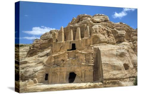 Obelisk Tomb (Upper Structure), Bab As-Sig Triclinium (Lower Structure), Petra, Jordan, Middle East-Richard Maschmeyer-Stretched Canvas Print