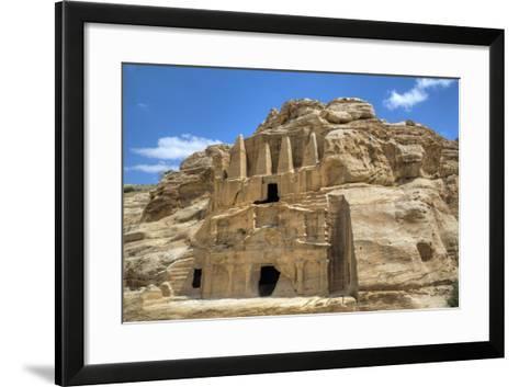 Obelisk Tomb (Upper Structure), Bab As-Sig Triclinium (Lower Structure), Petra, Jordan, Middle East-Richard Maschmeyer-Framed Art Print