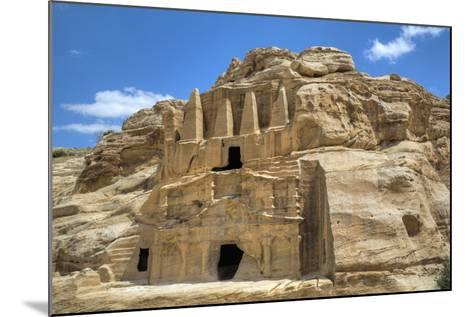 Obelisk Tomb (Upper Structure), Bab As-Sig Triclinium (Lower Structure), Petra, Jordan, Middle East-Richard Maschmeyer-Mounted Photographic Print