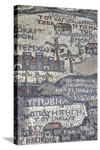 Oldest Map of Palestine, Mosaic, Dated Ad 560, St. George's Church, Madaba, Jordan, Middle East-Richard Maschmeyer-Stretched Canvas Print