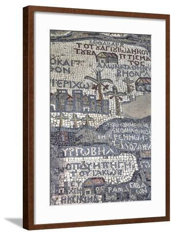 Oldest Map of Palestine, Mosaic, Dated Ad 560, St. George's Church, Madaba, Jordan, Middle East-Richard Maschmeyer-Framed Art Print