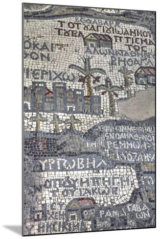 Oldest Map of Palestine, Mosaic, Dated Ad 560, St. George's Church, Madaba, Jordan, Middle East-Richard Maschmeyer-Mounted Photographic Print