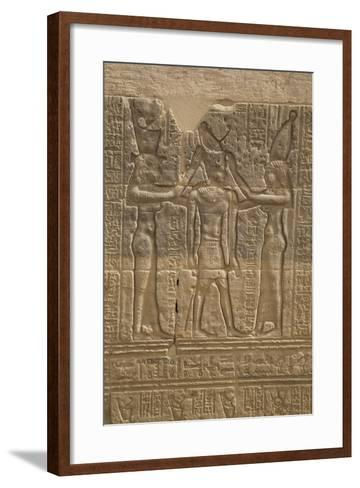 Decorative Wall Reliefs, Temple of Isis, Island of Philae, Aswan, Egypt, North Africa, Africa-Richard Maschmeyer-Framed Art Print