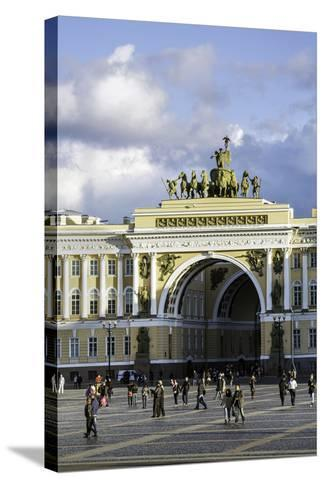 General Staff Building, Hermitage Square, St. Petersburg, Russia-Gavin Hellier-Stretched Canvas Print