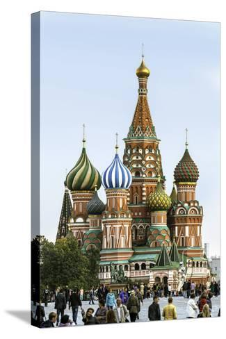 St. Basils Cathedral in Red Square, Moscow, Russia-Gavin Hellier-Stretched Canvas Print