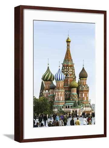 St. Basils Cathedral in Red Square, Moscow, Russia-Gavin Hellier-Framed Art Print