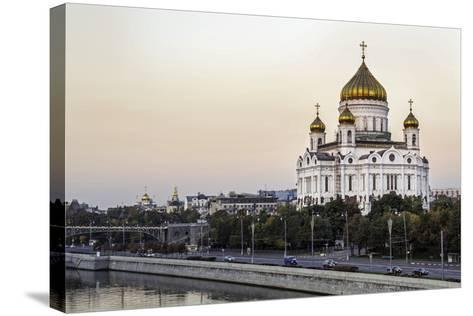 Cathedral of Christ the Saviour and Moskva River, Moscow, Russia-Gavin Hellier-Stretched Canvas Print