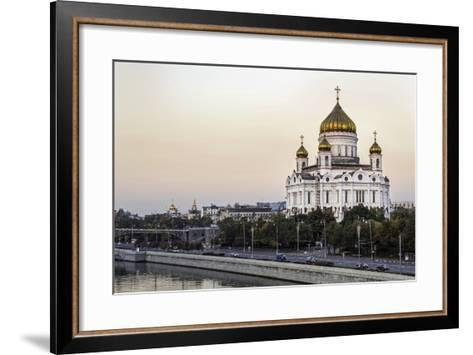 Cathedral of Christ the Saviour and Moskva River, Moscow, Russia-Gavin Hellier-Framed Art Print