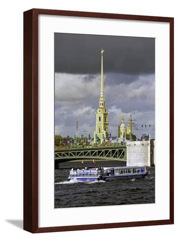 Peter and Paul Fortress on Neva Riverside, St. Petersburg, Russia-Gavin Hellier-Framed Art Print