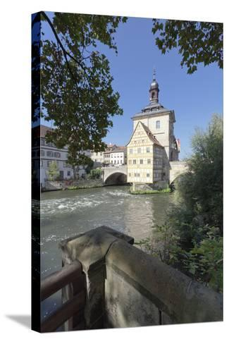 Old Town Hall, UNESCO World Heritage Site, Regnitz River, Bamberg, Franconia, Bavaria, Germany-Markus Lange-Stretched Canvas Print