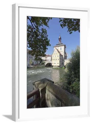 Old Town Hall, UNESCO World Heritage Site, Regnitz River, Bamberg, Franconia, Bavaria, Germany-Markus Lange-Framed Art Print