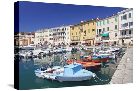 Harbour with Fishing Boats, Portoferraio, Island of Elba-Markus Lange-Stretched Canvas Print