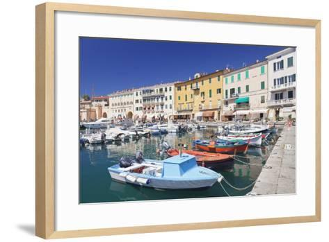 Harbour with Fishing Boats, Portoferraio, Island of Elba-Markus Lange-Framed Art Print
