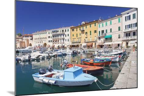 Harbour with Fishing Boats, Portoferraio, Island of Elba-Markus Lange-Mounted Photographic Print