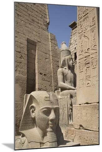 Head of Ramses Ii in Foreground and Colosssus of Ramses Ii Behind-Richard Maschmeyer-Mounted Photographic Print