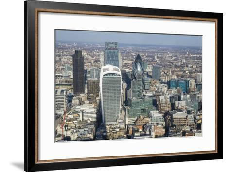 Elevated View of Skyscrapers in the City of London's Financial District, London, England, UK-Amanda Hall-Framed Art Print