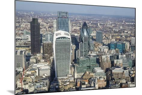 Elevated View of Skyscrapers in the City of London's Financial District, London, England, UK-Amanda Hall-Mounted Photographic Print