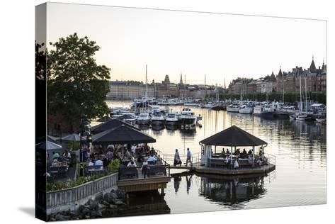 View over the Buildings and Boats Along Strandvagen Street, Stockholm, Sweden, Scandinavia, Europe-Yadid Levy-Stretched Canvas Print